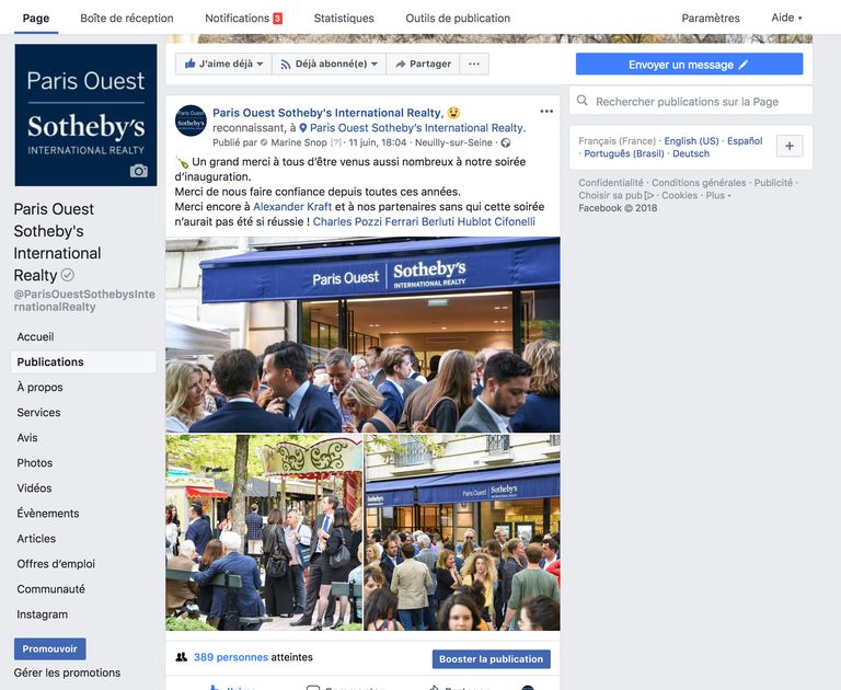 Social media: A continuous presence - Sotheby's Paris Ouest